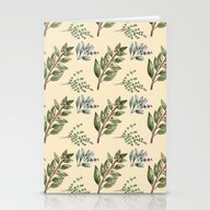 Herb Pattern Stationery Cards