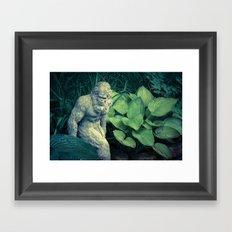 Bigfoot Sighted Framed Art Print