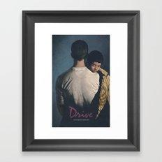 Drive Poster Framed Art Print
