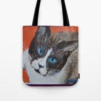 Rastus The Snowshoe Cat Tote Bag