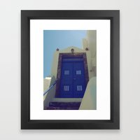 Santorini Door VII Framed Art Print