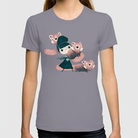 Panda Womens Fitted Tee Slate SMALL
