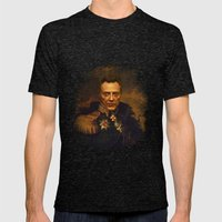 Christopher Walken - replaceface Mens Fitted Tee Tri-Black SMALL