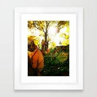 Fall at Notre Dame Framed Art Print