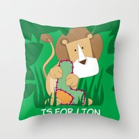 L Is For Lion.. Throw Pillow