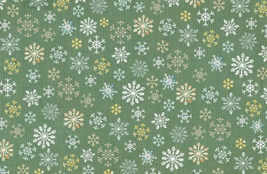 christmas snowy green Art Print