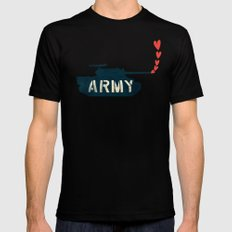 The Love Army Black SMALL Mens Fitted Tee