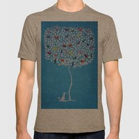 Tweet Mens Fitted Tee Tri-Coffee SMALL