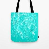Feathered Nautilus Tote Bag