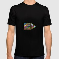 PlayPause Black SMALL Mens Fitted Tee