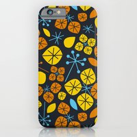 iPhone & iPod Case featuring Leaf Scatters by AllisonBeilke