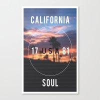 California.  Canvas Print
