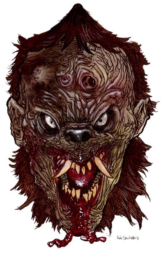 Heads of the Living Dead  Zombies: Were - Zombie Art Print