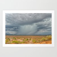 Storm Across The Valley Art Print