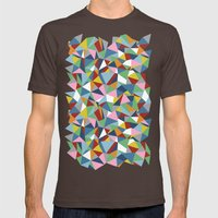 Abstraction Repeat Mens Fitted Tee Brown SMALL