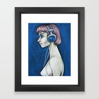 That girl is nothing but treble Framed Art Print