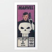 One Dollar Punisher Art Print