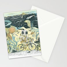 Cycling in the Deep Stationery Cards