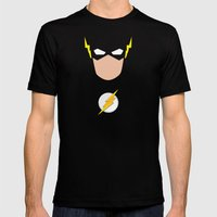 FLASH Mens Fitted Tee Black SMALL