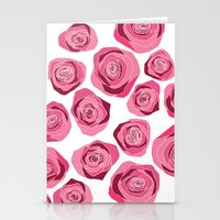 Roses Are Pink Stationery Cards