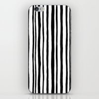Into the Woods Stripes black iPhone & iPod Skin