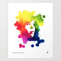 Ink Portrait Art Print