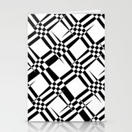 Stationery Cards featuring Pattern Black And White … by Christine Baessler