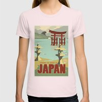 Kaiju Travel Poster Womens Fitted Tee Light Pink SMALL