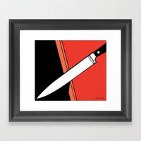 THE KNIFE Framed Art Print