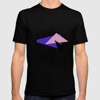 Misplaced Triangles Pastel // www.pencilmeinstationery.com Mens Fitted Tee Black SMALL