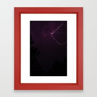 Lightning Strikes Framed Art Print