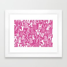 A-Z Framed Art Print