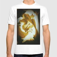 Starburst Mens Fitted Tee White SMALL