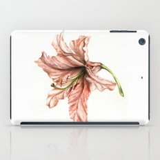 Pink Lily Flower Watercolor iPad Case