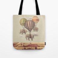 Flight Of The Elephants  Tote Bag