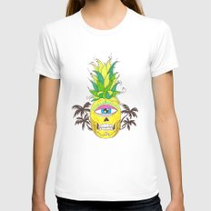 piña del mar Womens Fitted Tee White SMALL