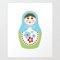 Matryoshka Doll 2 Art Print