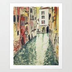 Venice in watercolour Art Print