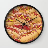 Hotdogs Wall Clock