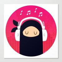 Music Ninja Canvas Print