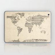 Old Sheet Music World Ma… Laptop & iPad Skin