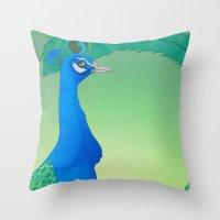 Peacock;Light Throw Pillow