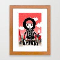 Eskimo Girl, I love you. Framed Art Print