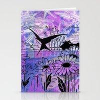 sky birds Stationery Cards