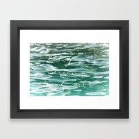 Let your dreams set sail Framed Art Print