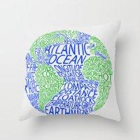 Oceanography Throw Pillow