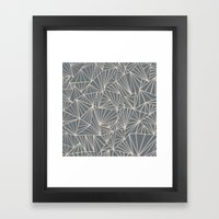 Ab Fan Grey And Nude Framed Art Print