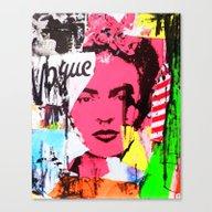 Canvas Print featuring FRIDA by Neon Wonderland