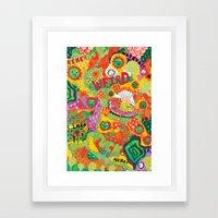 Rainbow Wars Framed Art Print