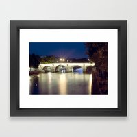 Bridges of Paris by Night Framed Art Print